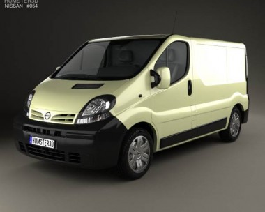 3D model of Nissan Primastar Panel Van 2002