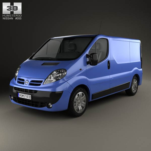 Nissan Primastar Panel Van 2006 3d car model