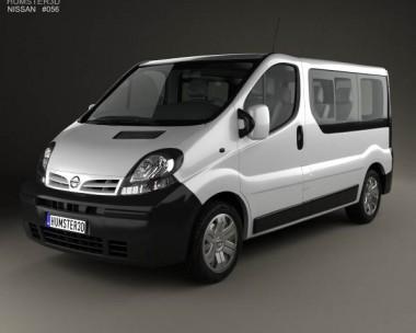 3D model of Nissan Primastar Passenger Van 2002