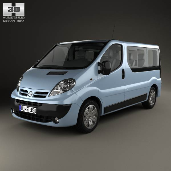 Nissan Primastar Passenger Van 2006 3d car model