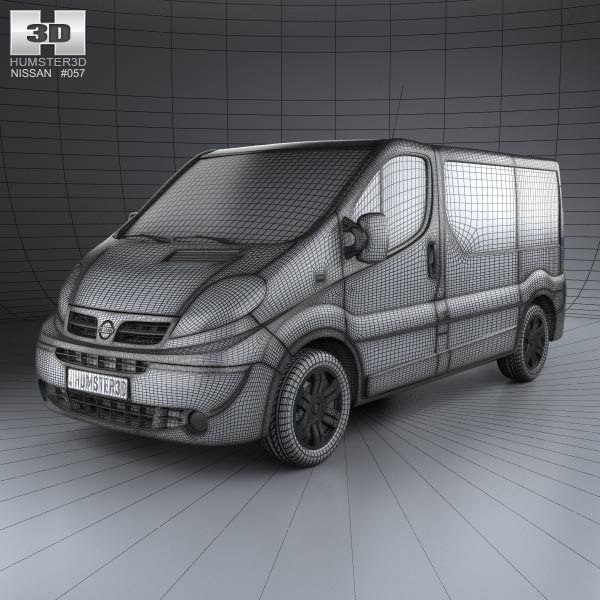 nissan primastar passenger van 2006 3d model humster3d. Black Bedroom Furniture Sets. Home Design Ideas