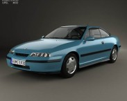 3D model of Opel Calibra 1990
