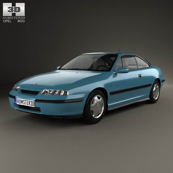 Opel Calibra 1990 3d car model
