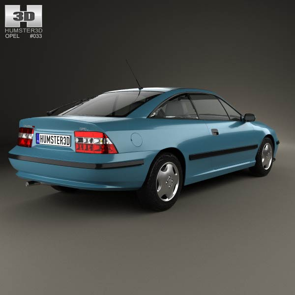 Opel Calibra 1990 3d model
