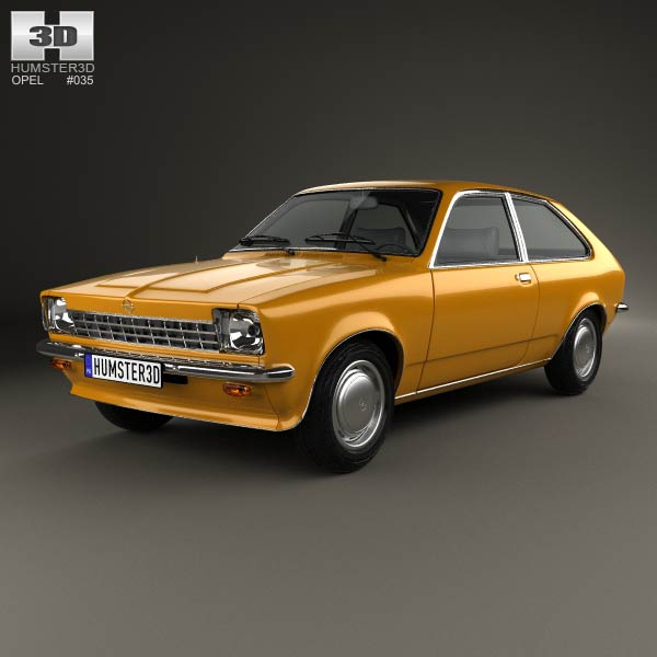 Opel Kadett City 1975 3d car model