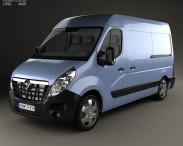 3D model of Opel Movano Panel Van 2010