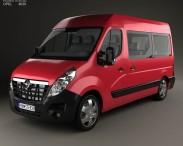 3D model of Opel Movano Passenger Van 2010