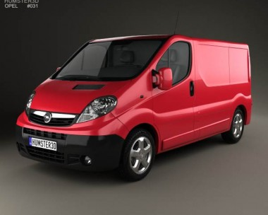 3D model of Opel Vivaro Panel Van 2006