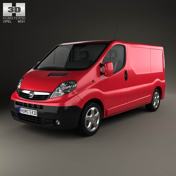 Opel Vivaro Panel Van 2006 3d car model