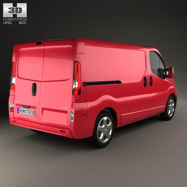 Opel Vivaro Panel Van 2006 3d model