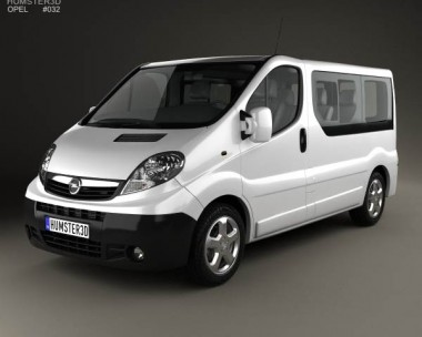 3D model of Opel Vivaro Passenger Van 2006