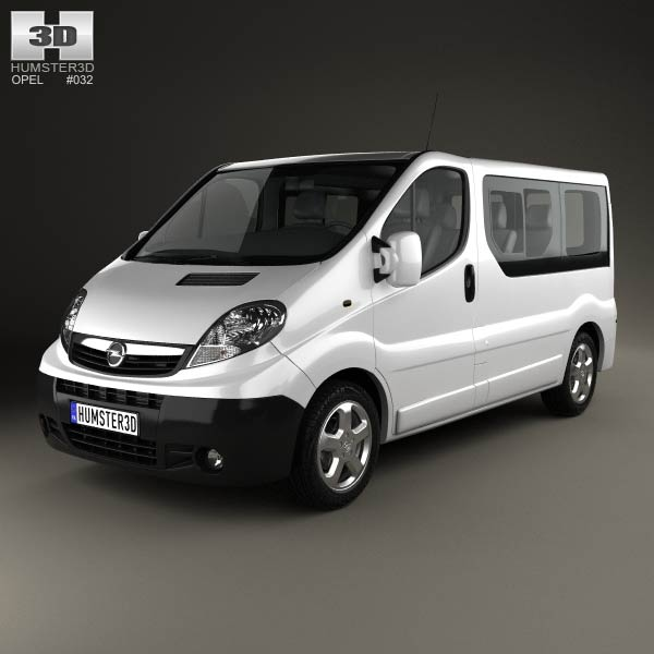 Opel Vivaro Passenger Van 2006 3d car model