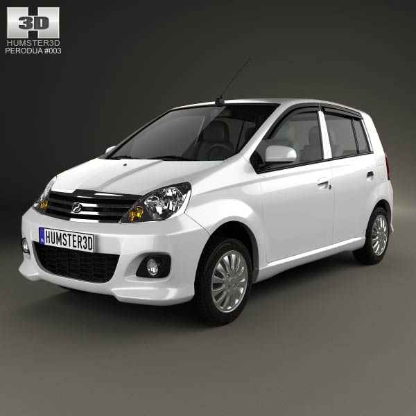 Perodua Viva 2009 3d car model