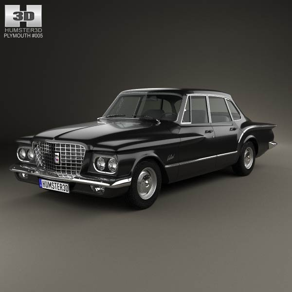 Plymouth Valiant sedan 1960 3d model
