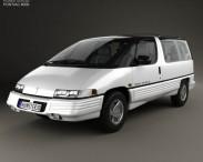 3D model of Pontiac Trans Sport 1990