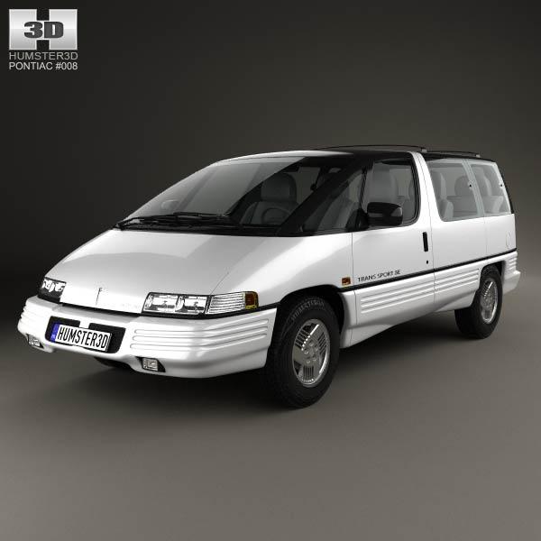 Pontiac Trans Sport 1990 3d model