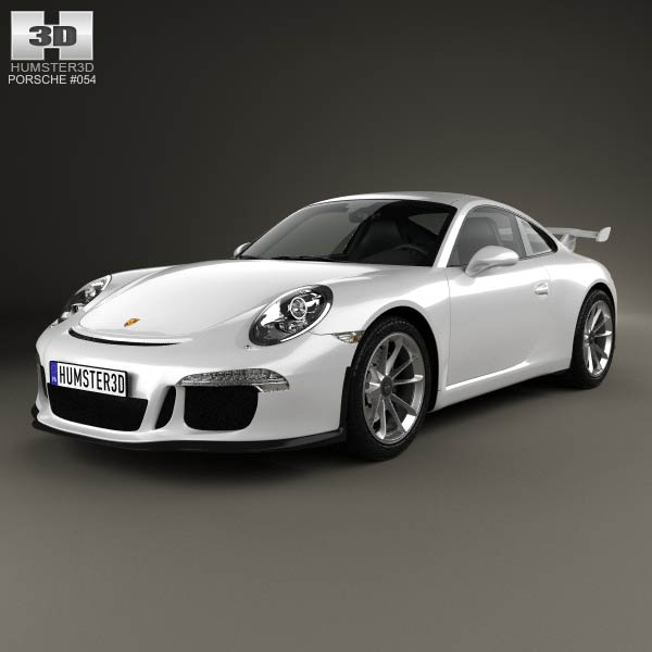 Porsche 911 (991) Carrera GTR3 2013 3d car model
