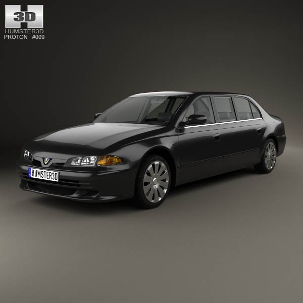 Proton Perdana Grand Limousine 2004 3d car model