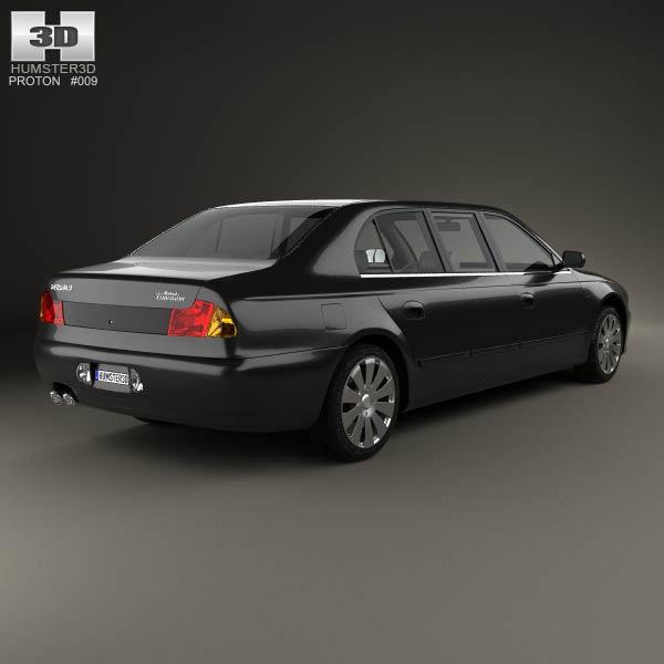 Proton Perdana Grand Limousine 2004 3d model