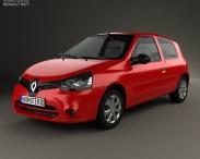 3D model of Renault Clio Mercosur 3-door hatchback 2013