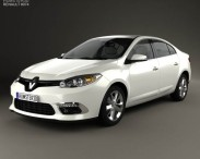 3D model of Renault Fluence 2012