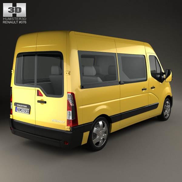 Renault Master Passenger Van 2010 3d model