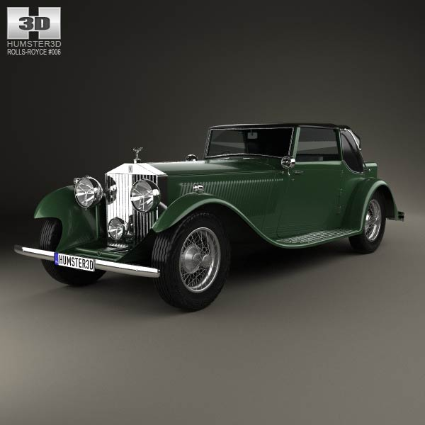 Rolls-Royce Phantom II Continental 1933 3d car model