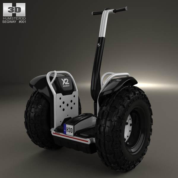Segway 2X Adventure 2012 3d model