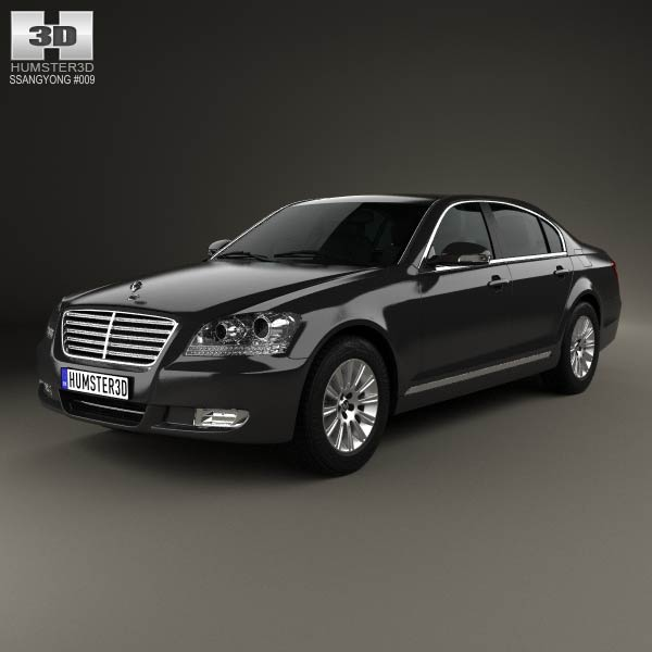 SsangYong Chairman W 2011 3d car model