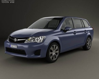 3D model of Toyota Corolla Fielder 2012