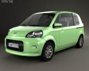 3D model of Toyota Porte 3-door hatchback 2012