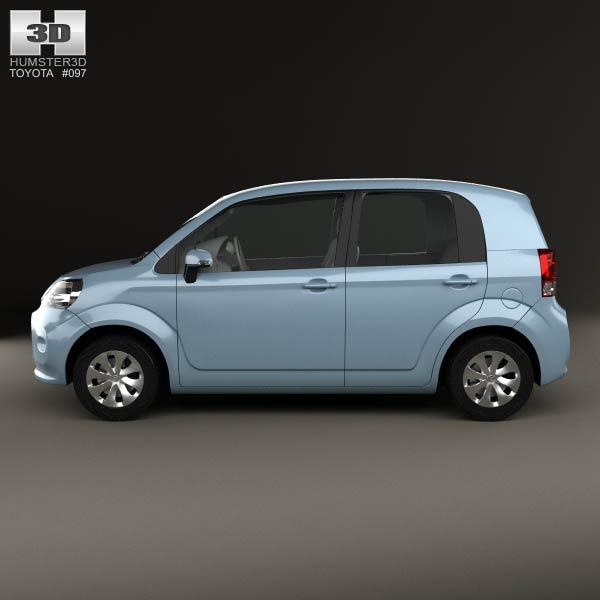 toyota porte 5 door hatchback 2012 3d model humster3d. Black Bedroom Furniture Sets. Home Design Ideas