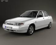 3D model of VAZ Lada 2110 sedan 1995