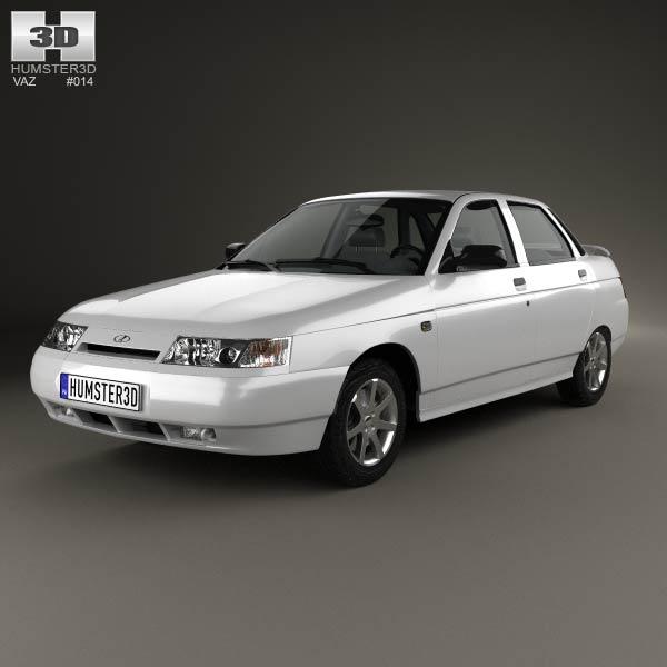 VAZ Lada 2110 sedan 1995 3d car model