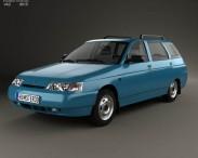 3D model of VAZ Lada 2111 wagon 1995