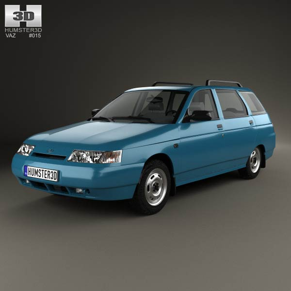 VAZ Lada 2111 wagon 1995 3d car model