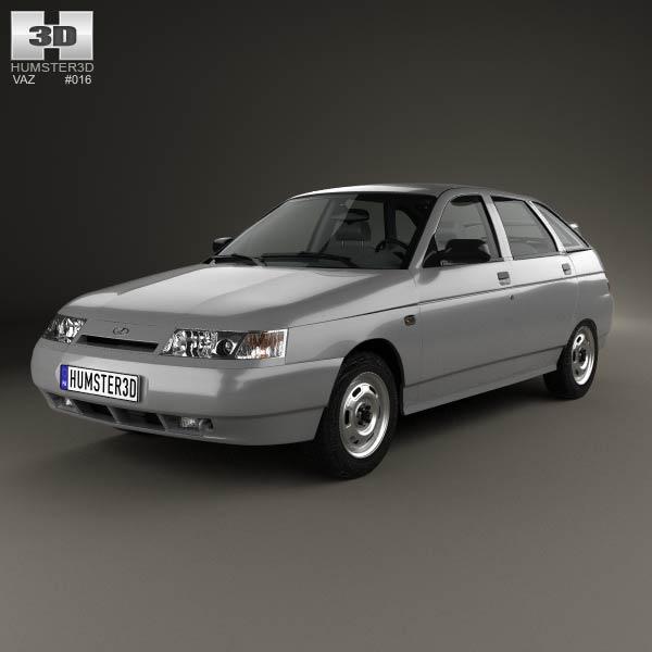 3D model of VAZ Lada 2112 hatchback 1995