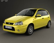 3D model of Lada Kalina (1119) hatchback Sport 2011