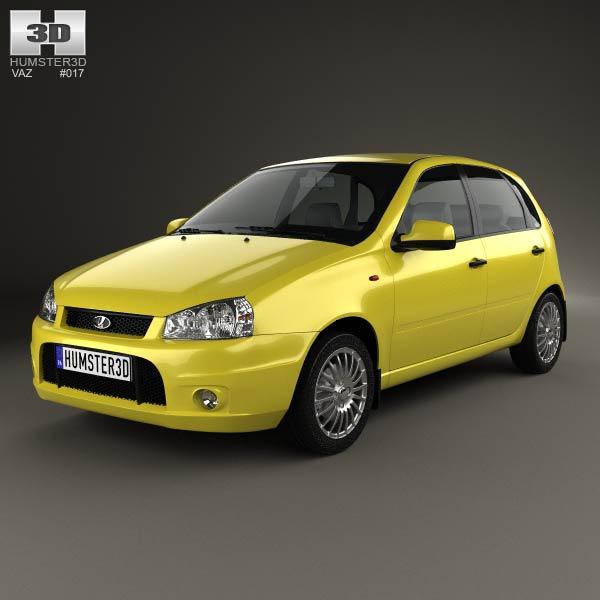 3D model of Lada Kalina (1119) hatchback Sport 2011