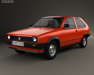 3D model of Volkswagen Polo coupe 1990