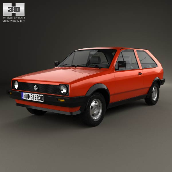 Volkswagen Polo coupe 1990 3d car model