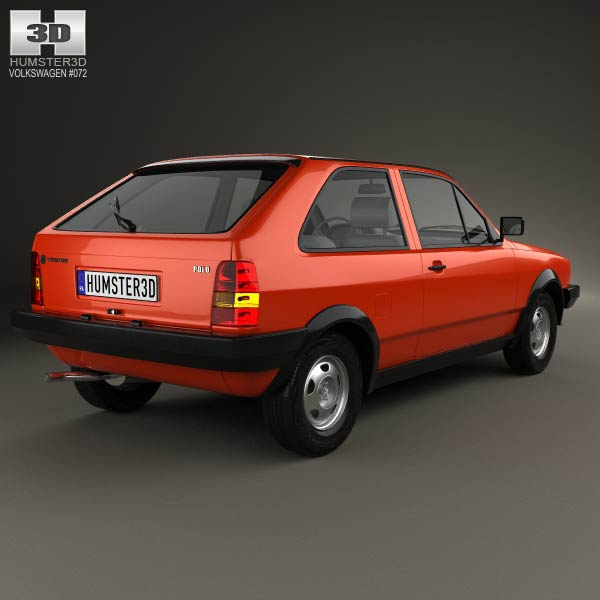 Volkswagen Polo coupe 1990 3d model