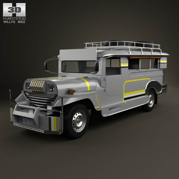 Willys Jeepney Philippines 2012 3d car model