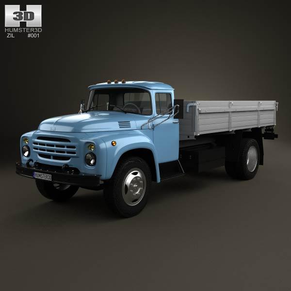 ZIL 130 Flatbed Truck 1964 3d car model