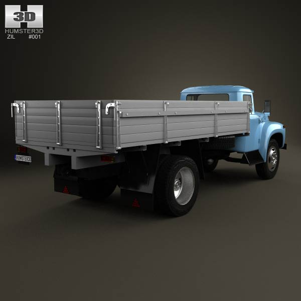 ZIL 130 Flatbed Truck 1964 3d model