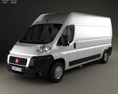 3D model of Fiat Ducato Panel Van LWB 2012