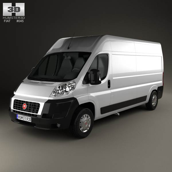 Fiat Ducato Panel Van LWB 2012 3d car model