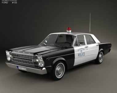 3D model of Ford Galaxie 500 Police 1966