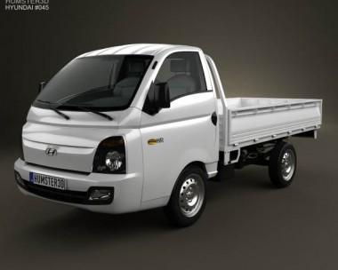 3D model of Hyundai HR (Porter) Flatbed Truck 2013