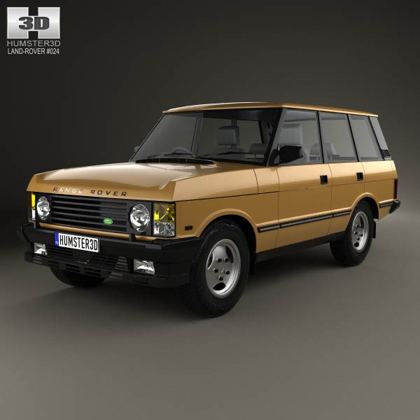 Land Rover Range Rover 1986 3d car model
